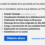 Flickr Pro gratis